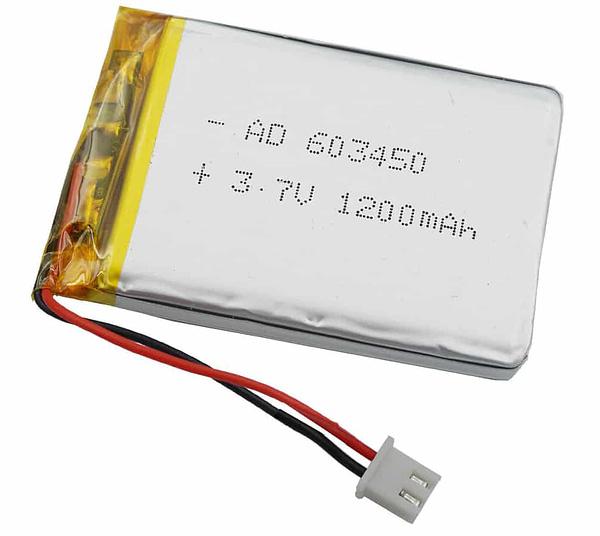 Batterie LIPO 1200mah, 3,7V
