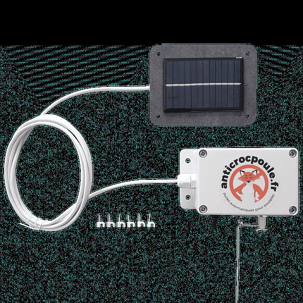 Cellule solaire déportée du portier poulailler automatique solaire