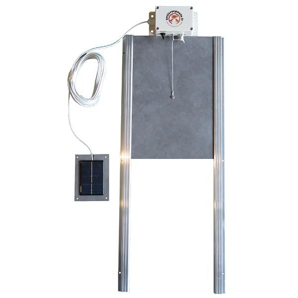 trappe automatique poulailler avec cellule solaire déportée