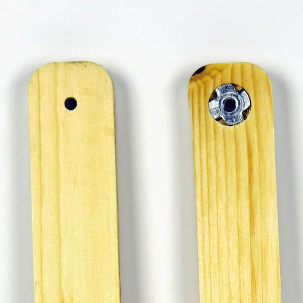 Inserts des support pour porte de poulailler automatique solaire en bois
